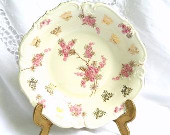 vintage serving dish porcelain dish floral serving dish shabby chic floral serving platter pink floral dish