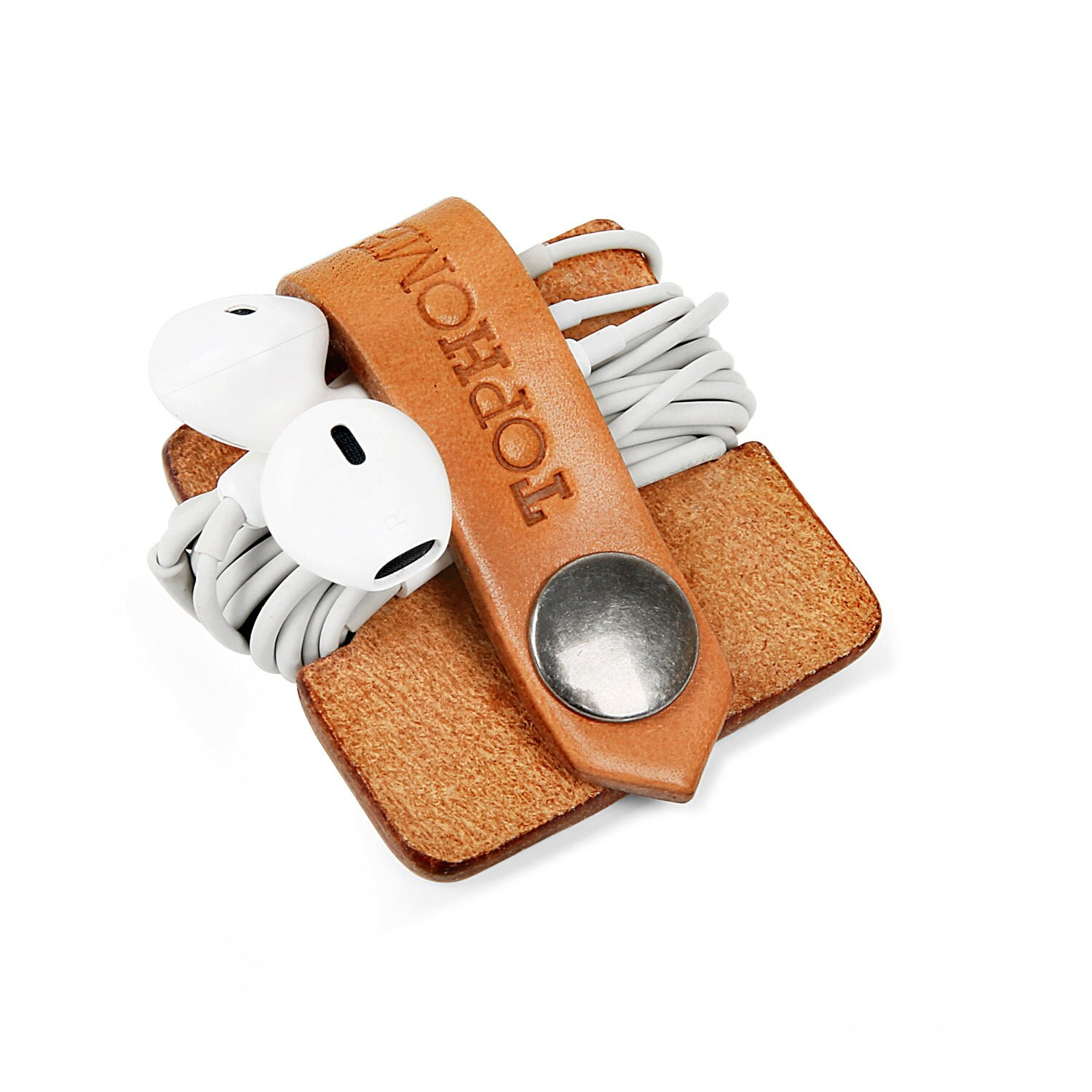 Earphone Organizer Cord Organizer Leather Cable Holder Earbud