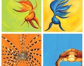 Set of 12 Sea Creatures Notecards