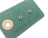 Small Square - Matt - Limited Edition Simple Studs