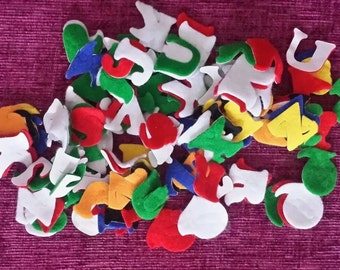 "104 Self Adhesive Felt Letters Capitals 1"""