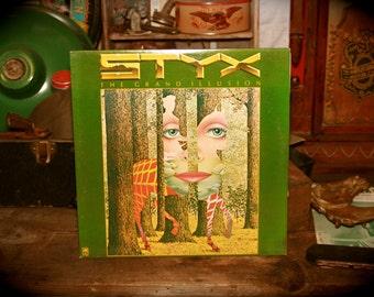 STYX Grand Illusion SP 4637 LP 1977 Vinyl Record Album