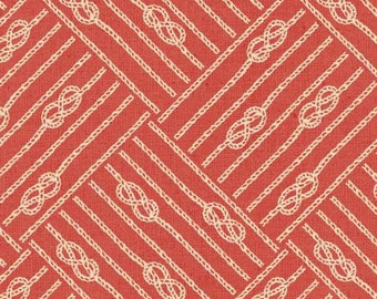 Windham fabric Sailors' KNOTS on Red