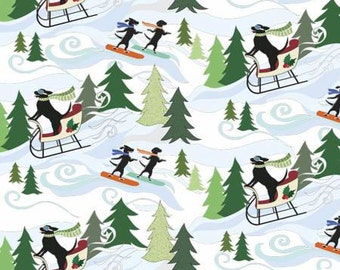EBI Fabrics DOGS Sledding and Snowboarding