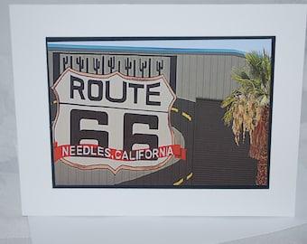 photo card, Route 66, Needles California