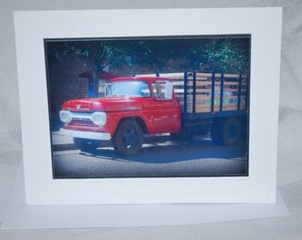 photo card, Route 66, Winslow Arizona, Flat Bed Truck photography