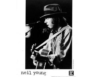 Neil Young Publicity Photo  8 by 10 Inches