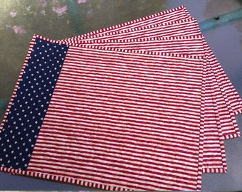 Patriotic quilted placemats