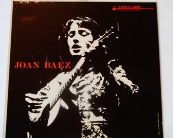 "Joan Baez - Folk Singer - ""John Riley"" - ""All My Trials"" - Original Release Vanguard Records 1960 - Vintage Vinyl LP Record Album"