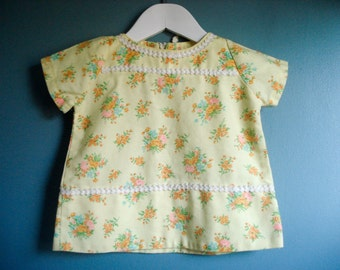 Sweetest floral shirt - 9-12 months