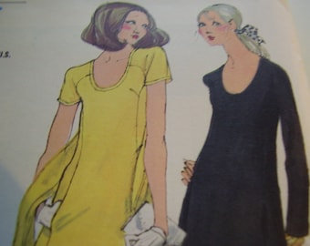 Vintage 1960's Vogue 7712 Dress Sewing Pattern, Size 12, Bust 34