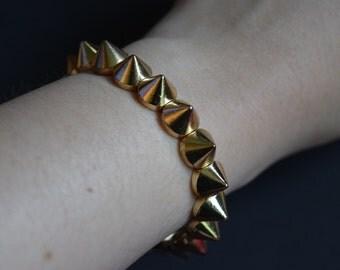 Gold Spike Studded Bracelet Vintage