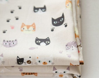Cats Cotton Fabric Meow Meow - By the Yard 85472