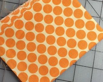 HALF YARD cut of Amy Butler  Lotus Full Moon Dot AB13 in Tangerine