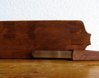 Dansk Teak Board with Serrated Knife
