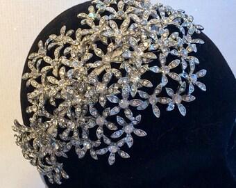 Bridal tiara - Bridal headpiece - Bridal Hair - Wedding headband - Flower headband- Hair jewellery- Daisy headband