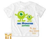 Big brother shirt disney monster Inc. Tshirt - Personalized Big brother Shirt or Bodysuit - 022_BB_2C_disney monster