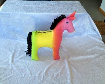 Peace Donkey - rainbow colours