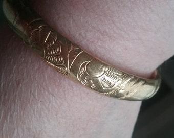 Antique Rolled Gold Bangle