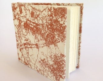 Small Hard Cover Journal, Copper Leaf Design, Art Diary, Notebook.