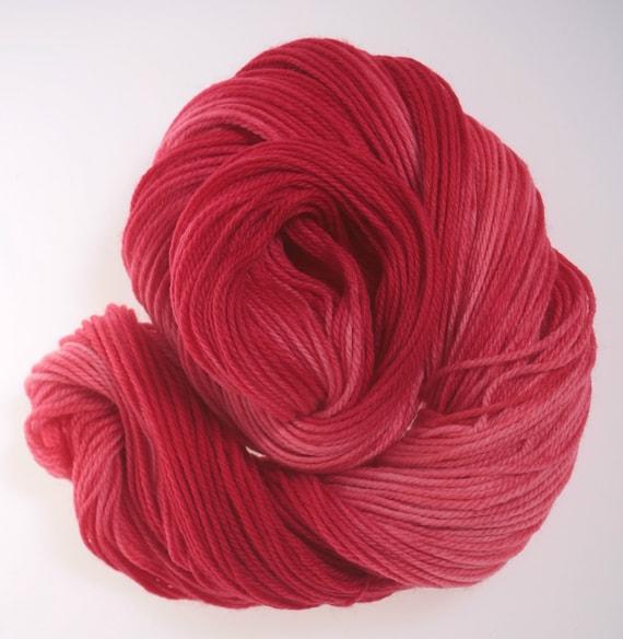 Hand dyed Yarn - Passionate Love 8 ply, Wool yarn, Superwash Merino...