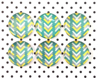Chevron, 6 Pc Medium Magnet Set