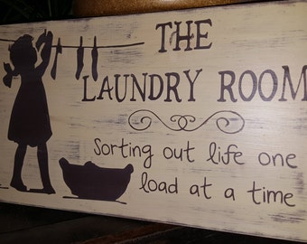 Adorable Laundry Room sign, Home Decor, Wall Deco, Little Girl