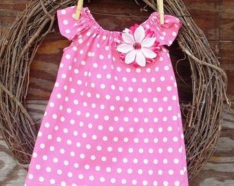 Girls Pink Summer dress, Kids Dress, Girls dress, Girls Beach Dress