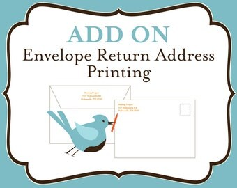 ADD ON: Envelope Return Address Printing- Includes matching graphic