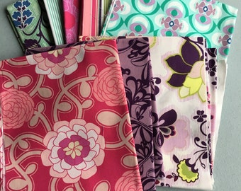 POETICA Fat Quarter Stack Pat Bravo Art Gallery Fabrics Bundle 8 Fabric Destash