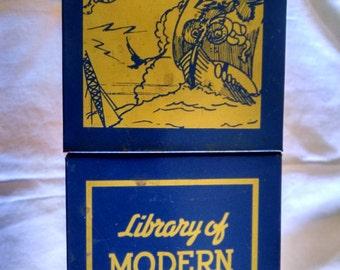Vintage Tin Library of Modern Wonder Books