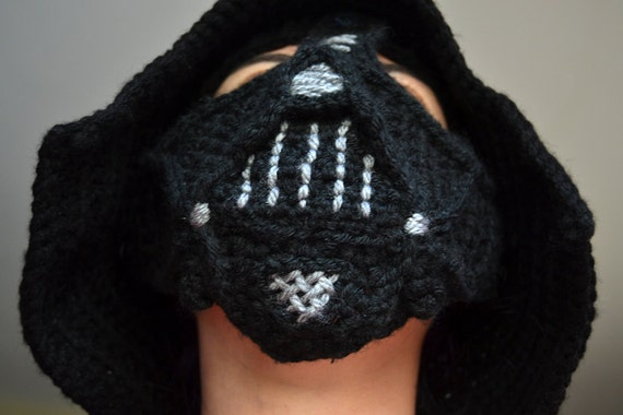 Knitting Pattern Darth Vader Hat : SALE 1 Dollar OFF --PDF Pattern - Darth Vader Adult Size Crochet Hat (not the...