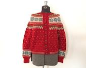Vintage Fair Isle Sweater / Medium/Large / Original Lanz Sweater
