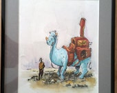 "Explorer and Ride 8""x10"" - OOAK Original painting"