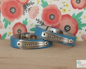 Laverne and Shirley Leather Chick Cuff Pair