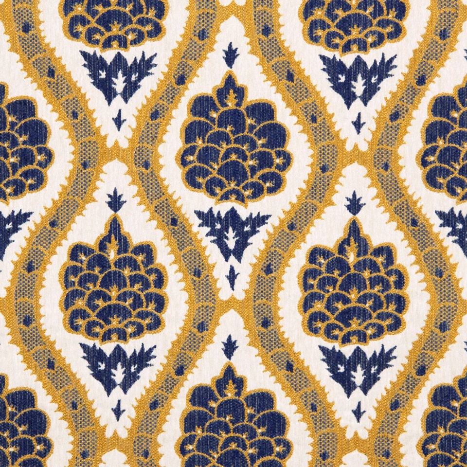 navy blue mustard yellow upholstery fabric modern woven. Black Bedroom Furniture Sets. Home Design Ideas