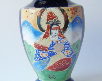 Antique Hotta Yu Shoten Hand Painted Japanese Imari Oriental Vase