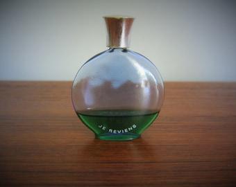 WORTH JE REVIENS Vintage Miniature Perfume Bottle Cobalt Blue w box  Mini Perfume bottle Flacon