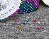 Colorful Rainbow Sewing Pins Set of 40 Pieces Great Gift Idea! Dress Making, Sewing, Craft, Supplies