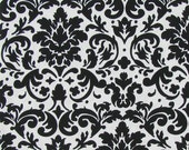 FABRIC-Black and White Damask Fabric by the Yard-Quilt Fabric-Apparel Fabric-Home Decor Fabric-Fat Quarter-Craft Fabric-Fat Quarters