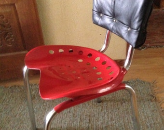 Vintage Kitchen Chair with Tractor Seat
