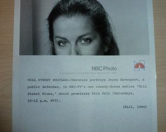 Original NBC Photo Veronica Hamel Hill Street Blues Pictures Photographs Television Press Info Sheet Synopsis Entertainment Memorabilia TV