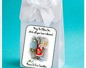 Personalized Vintage Christmas Party Favor Boxes - Vintage Santa - Christams party Favor Boxes - set of 12