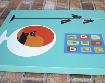 16 X 20 Gallery Wrapped Canvas Print, Mid Century Modern Inspired