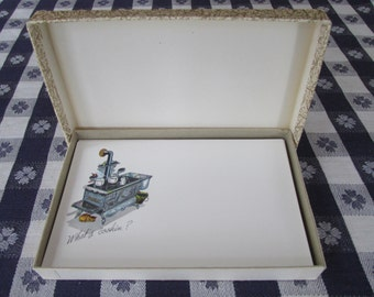 Vintage box of Americana Postcard Style Notes