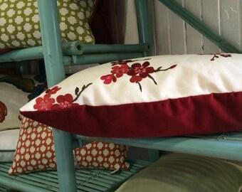 Red Velvet Decorative Christmas Pillow
