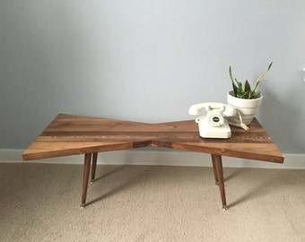 FREE SHIPPING! Mid century coffee table, mid century table, solid wood coffee table, mid century modern coffee table, mid century furniture