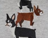 Boston Terrier Stack Hoodie