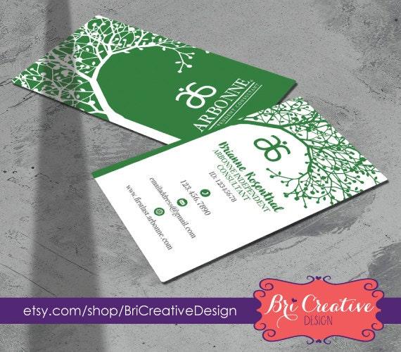 Green Tree Arbonne Business Card Design