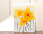 Daffodil stationery, watercolor notecard set, daffodil watercolor art reprints, personal stationery, gardening notecards, spring flowers